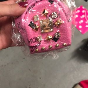 Mcm brand new in bag change purse Pink color